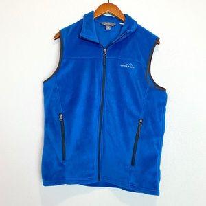 Eddie Bauer Mens Blue Classic Fleece Vest Sz M